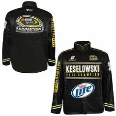 Brad Keselowski 2012 Nascar Sprint Cup Champ Replica Jacket Xl by Brickels. $114.95. Brad Keselowski 2012 NASCAR Sprint Cup Champ Replica Jacket XL. Save 21%!
