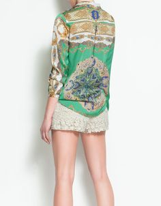 medallion print blouse $59.90 [zara]