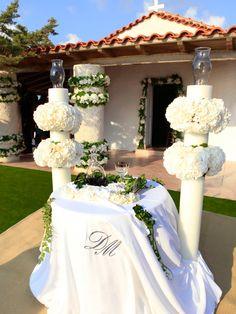 Costa Navarino wedding ceremony decoration, table and candles Wedding Ceremony Decorations, Table Decorations, Candles, Weddings, Creative, Costa, Events, Wedding, Wedding Decoration