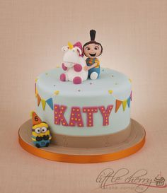 It's so FLUFFY! Despicable Me Agnes cake