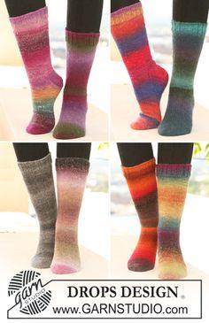 """Rainbow Fun. Perinteiset villasukat """"Delight""""-langasta."""