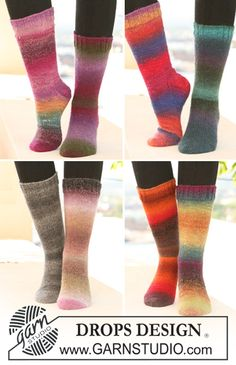 "February is #Sockalicious! Basic DROPS Socks in ""Delight"". ~ #DROPSDesign #Garnstudio"