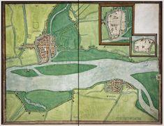 Gorinchem en Woudrichem in 1545 door J. v. Deventer uitgegeven - Gorkum