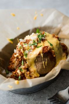 Chili Baked Potato w