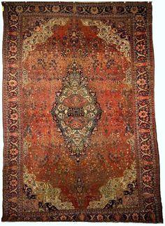 Persian Fereghan Sarouk, late 19th c