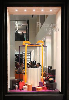 Nespresso® chooses Light Tape® Extreme Orange to help bring in the shoppers. http://www.lighttape.co.uk/ #nespresso #lighttape #coffee #window #display