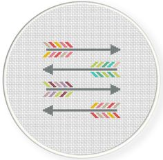 SALE Colorful Arrows PDF Cross Stitch Pattern by DailyCrossStitch