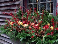 decorate your outdoor window boxes for christmas by lesley