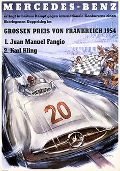 French Grand Prix, 1954. The moment had finally come: in 1954 Mercedes-Benz made its long-awaited return to grand prix racing. On 4 July 1954, Germany lifted the Football World Cup, and Mercedes-Benz celebrated victory in Reims at the first outing for the new Silver Arrows.