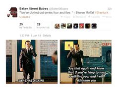 When promises were made, and it was very clear there would be consequences should they not be kept. | 27 Times The Sherlock Fandom Won Tumblr