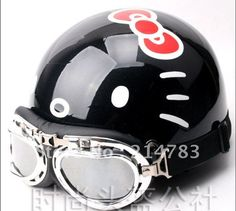 free shipping hello kitty novelty bike motorbike Motorcycle cycle scooter Helmet girl friend birthday gift open face-in Helmets from Sports & Entertainment on Aliexpress.com