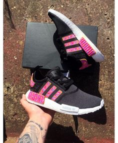 2a97a98a1c302 Adidas NMD Black Pink Trainers UK Sale. Adidas Nmd R1 ...
