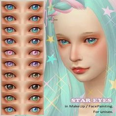 Anime Eyes Colors The Sims 4 Los Sims 4 Mods, Sims 4 Game Mods, Sims Games, Sims 4 Cc Eyes, Sims 4 Mm, The Sims 4 Skin, Sims 4 Anime, Pelo Sims, The Sims 4 Packs