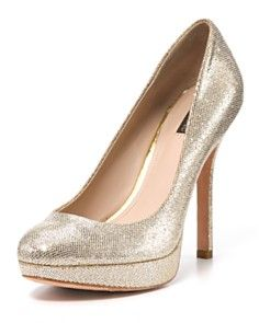 If i had a crazy fancy dress for a crazy fancy occasion id wear these. Joan & David Pumps - Flipp Glitter Platform.