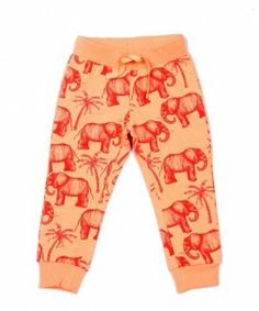 Mini Rodini oranje sweatpants voor kinderen