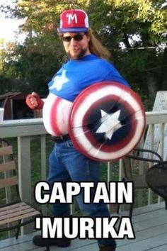 """Hahahaaa my little sister is """"in love"""" with Captain America and i showed her this pic she flipped to it was fun to watch!"""