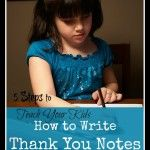 how to write thank you notes...step by step helps