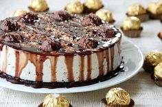 Ferrero Rocher Cheesecake (with Nutella and Ferrero Rocher)