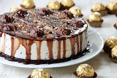 Ferrero Rocher Cheesecake (with Nutella and Ferrero Rocher)