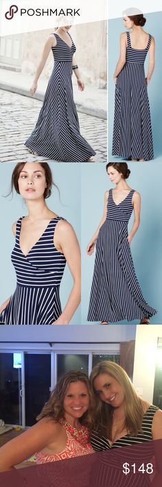Size 12 Boden Full Skirt Maxi Dress Size 12 Boden Full Skirt Maxi Dress. This is stunning and SO flattering. I bought 10 & 12 and 10 fits me way better, so selling the 12. Note: Size 12 will fit 14-16 IMO runs large. Navy & white stripe never worn only tried on. I'm 5'8 and length is perfect Boden Dresses Maxi