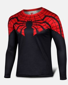 Superior Spider Man black long sleeve shirt Ultimate Spider-Man tee shirt for men-