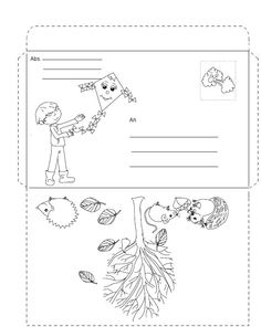 Podzimní obálka Autumn Activities For Kids, Coloring Books, Envelope, Fall, Sewing, Autumn, Printables, Hipster Stuff, Map Pictures