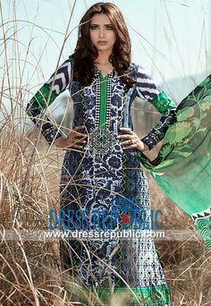Maria B Lawn 2014 | Pakistani Lawn Dresses 2014 by www.dressrepublic.com