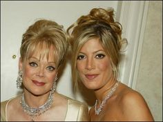 Tori Spelling and her mother Candy Spelling
