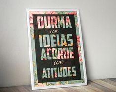 Poster Atitude com moldura