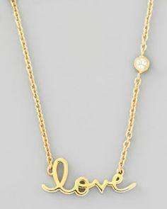 SHY by Sydney Evan Love Pendant Bezel Diamond Necklace