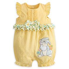 Disney Thumper Spring Romper for Baby | Disney StoreThumper Spring Romper for Baby - Your sweetheart will be the bright spot in your day while wearing our lovely romper. Starring a soft faux fur Thumper, this adorable outfit features embroidered flowers and a textured print to entertain your tactile little bunny.