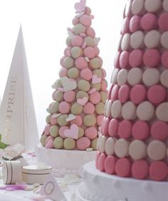 Macaron tower... I went several of these and a croquembouche for my wedding!