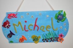 Custom made Personalized Door Sign Underwater by SketchiiStudio