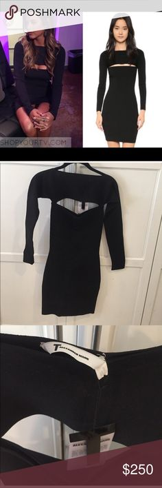 Bachelorette Jojo T by Alexander Wang cutout dress Cut out dress Size extra small as seen on JoJo Fletcher on the bachelor, sold out on the website, Alexander Wong cocktail dress, bodycon, tags on T by Alexander Wang Dresses Mini