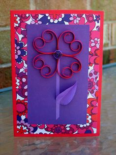 DIY: Flower Power Heart Card