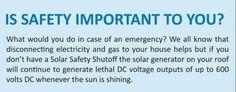 #SolarSafetyShutOFF  @SolarIsolator Flood Damage, Solar Generator