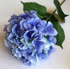 """34"""" Silk Hydrangea in Blue"""