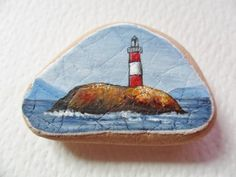 Beagle Channel lighthouse Argentina  by ShePaintsSmallThings, $19.00