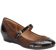 f81aca0880b Comfortiva Suede Wedge Mary Janes - Amherst