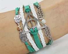 personalize bracelets green rope wing by Emmajins on Etsy, $6.99