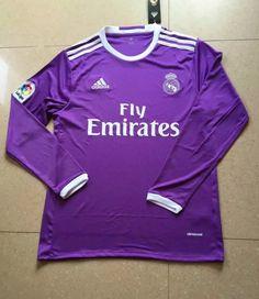 Real Madrid 16/17 Purple Longsleeve Jersey Real Madrid Soccer, Ronaldo, Graphic Sweatshirt, Purple, Sweatshirts, Long Sleeve, Quotes, Hair, Fashion