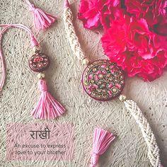 Top 25 Handicraft Rakhis Guide This Raksha Bandhan, gift vibrant handicraft rakhis to your brother. Ultimate Rakhi Guide has over 150 rakhis - modern, kids, crochet & more.Get access now! Raksha Bandhan Cards, Raksha Bandhan Quotes, Raksha Bandhan Pics, Rakhi Images, Handmade Rakhi Designs, Rakhi Cards, Happy Rakhi, Rakhi Making, Happy Rakshabandhan