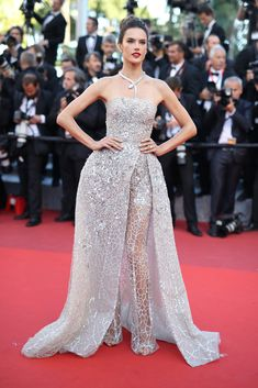 Alessandra Ambrosio in Zuhair Murad Couture - All the Breathtaking Looks From the 2016 Cannes Film Festival - Photos