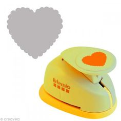 Perforadora GM corazón ondulado - 3,5 cm - Fotografía n°1