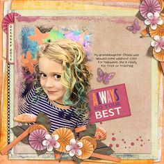 Kit is Harvest Sunset by Vero-The French Touch found at The Digi Chick Template I used is by Kimeric Kreations Stacked and Masked found at The Digi Chick My Granddaughter has Blue Curls for Halloween