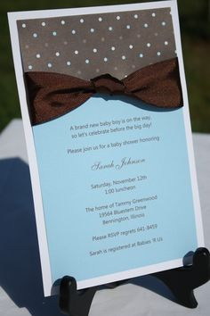 Homemade wedding invites!