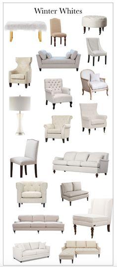 Winter white furniture