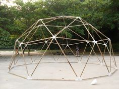 Bamboo geodesic dome at Girl from Ipanema Park on Behance