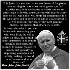 Pope John Paul Ii Quotes Paul Chazhukaran Chazhukaran On Pinterest