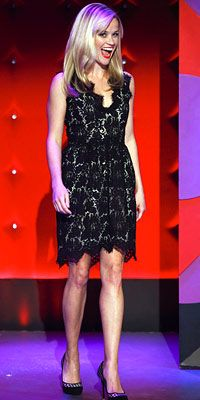 Black Lace Dress  Reese Witherspoon - Look of the Day - InStyle